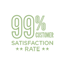 99% customer satisfaction rate.
