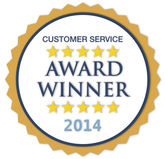 2014 Customer Service Award!