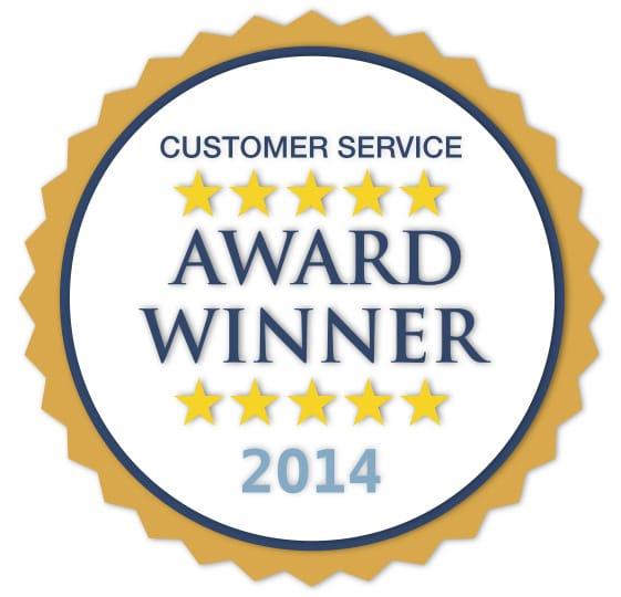2014 Customer Service Award!